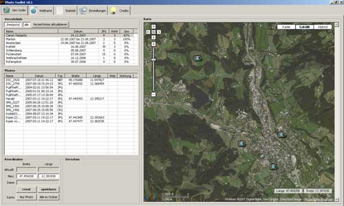 The geocoder GUI